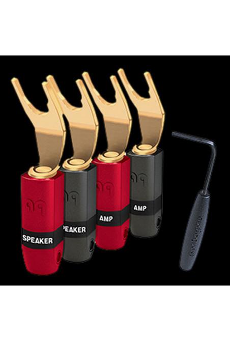 AudioQuest SureGrip 300 Multi-Spade Hanging-Gold Plating over Purple Copper