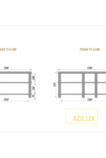 ADLUX TOWER TV-3-1200