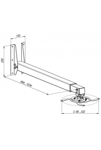 KSL Настінне кріплення для проектру CMPR-3