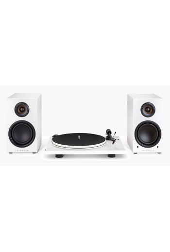 TRIANGLE LN01A & Pro-ject TURNTABLE white