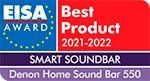 DENON HOME SOUND BAR 550 eisa award