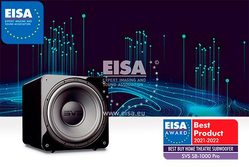 svs sb-1000 pro eisa award