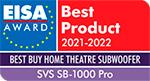svs sb-100 pro eisa award